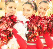 Cheerleaders - moment Relaksuje Zdjęcia Stock