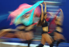 Cheerleaders perform during Final Four Stock Image