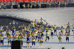 Cheerleaders Performance Stock Image