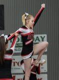 The Cheerleaders. Cheerleaders performing at a basketball game in Redding, California Stock Photo