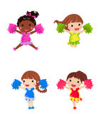Cheerleaders with pom pom. Illustration cheerleaders with pom pom Stock Photos