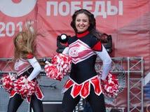 Cheerleaders of Spartak team Stock Images