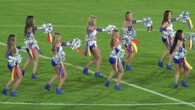 Cheerleaders, Talent, Performers. Stock video of cheer leaders