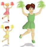 cheerleaders target216_1_ trzy royalty ilustracja
