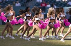 Cheerleaders van de Adelaars van Philadelphia Stock Fotografie
