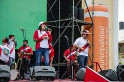 Lima, Peru - OCTOBER 10th 2017: Fanaticism in Peru Peru vs Colombia Russia 2018 Royalty Free Stock Photography