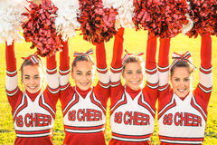 Cheerleadersteam stock afbeelding