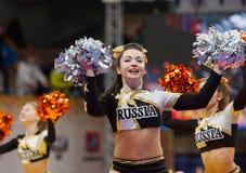 Cheerleadertanzen Stockfoto