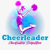Cheerleaderwettbewerbssymbol stockfotos