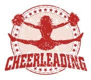 Cheerleading дизайн - год сбора винограда иллюстрация вектора