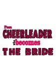 Cheerleading bride Stock Image