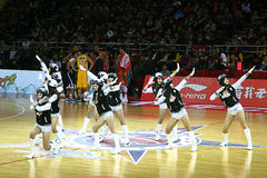 Cheerleading. 2013-2014 CBA all star game was carried out in Beijing Stock Photography