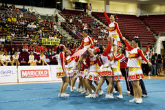 Cheerleading Championship Action Royalty Free Stock Image