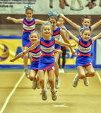 Cheerleading Championship Action Stock Photos