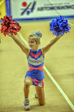 Cheerleading Championship Action. Open Championship Cup St. Petersburg Cheerleading Royalty Free Stock Photos