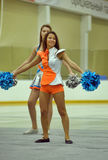 Cheerleading Championship Action Stock Image