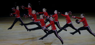 Cheerleading Championship of Finland 2010 Stock Photo