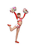 Cheerleading girl Royalty Free Stock Photos