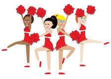 Cheerleading Gruppe Stockfotografie