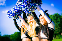 Cheerleading lag Royaltyfri Bild