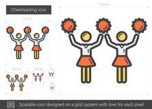 Cheerleading line icon. Royalty Free Stock Photos