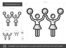 Cheerleading line icon. Royalty Free Stock Photo