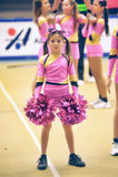 Cheerleading Meisterschafts-Aktion Lizenzfreies Stockfoto