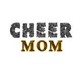 Cheerleading mom Royalty Free Stock Image