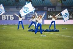 Cheerleading prålig folkhopdans Royaltyfri Foto