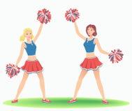 Cheerleading Tanz Lizenzfreie Stockfotografie