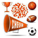 Cheerleadingsreeks stock illustratie