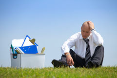 Cheerless businessman Stock Photos