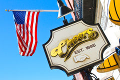Cheers Bar, Boston, MA. Made famous by the television show, Cheers Bar in Boston, MA Stock Photo