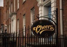 Cheers bar in Dublin. Cheers bar sign in Dublin, Ireland stock image