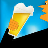 Cheers, Beer Art Deco Style Poster Royalty Free Stock Images