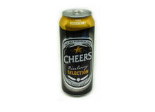 Cheers Beer Selection Riceberry. Can isolated on white - LAGER BEER 490 ML. alcohol 5.0 Royalty Free Stock Photography