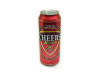 Cheers Beer X-TRA. Can isolated on white - LAGER BEER 490 ML. alcohol 6.0 Royalty Free Stock Photo