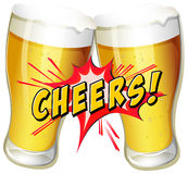 Cheers beers. Cheers and a couple of beers Royalty Free Stock Images