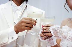 Cheers. Ceremony at wedding reception Stock Image