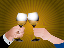 Cheers with champagne Stock Photos