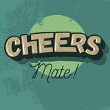 Cheers Comic Inscription. Vector Image. Stock Photo