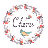 Cheers concept card Royalty Free Stock Photo