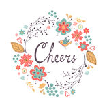 Cheers concept card Royalty Free Stock Image
