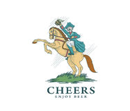 Cheers and Enjoy Beer Colored Royalty Free Stock Photo