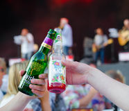Cheers at festival Royalty Free Stock Images
