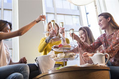 Cheers, girls! Royalty Free Stock Images