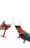 Cheers! - glasses only Stock Images