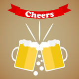 Cheers icon. Flat design,  illustration Stock Photo