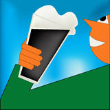 Cheers, Irish Stout Poster Stock Photography