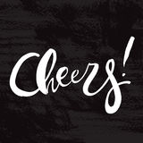 Cheers! Lettering print Stock Photos